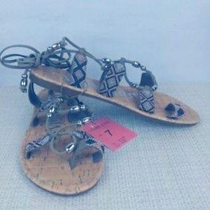 Sam & Libby Bethany Gladiator Beaded Sandals 7